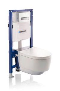 Geberit-toilet med stativ